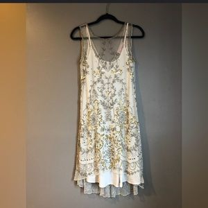 White Sequence Party Dress